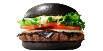 чёрный гамбургер япония