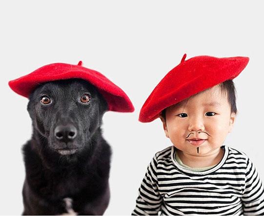 мальчик и собака художники