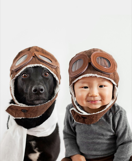 мальчик и собака пилоты