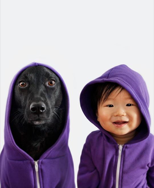 мальчик и собака спортсмены