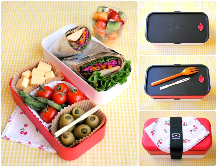 японская еда в коробочках