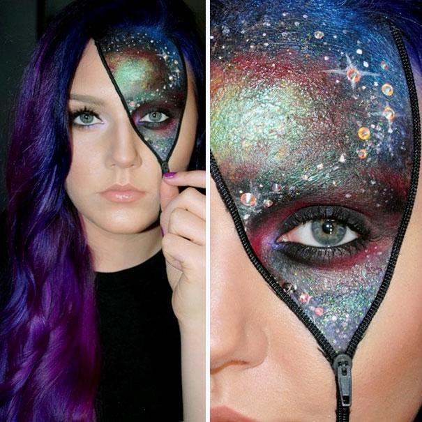 картинки макияж на хэллоуин