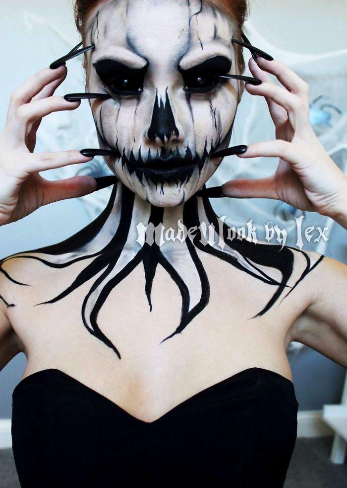 костюмы и макияж на хэллоуин