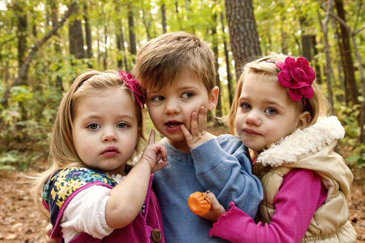 родила тройняшек