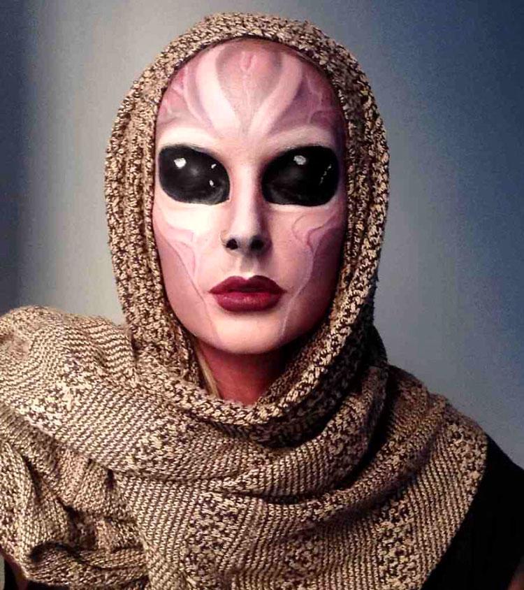 смотреть макияж на хэллоуин