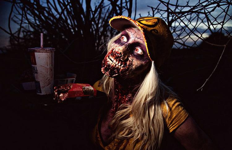 зомби хэллоуин