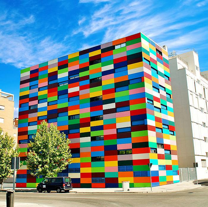 цветное здание