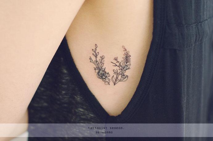 маленькие женские тату