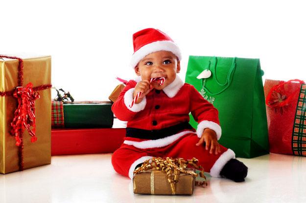 новогоднее детское фото