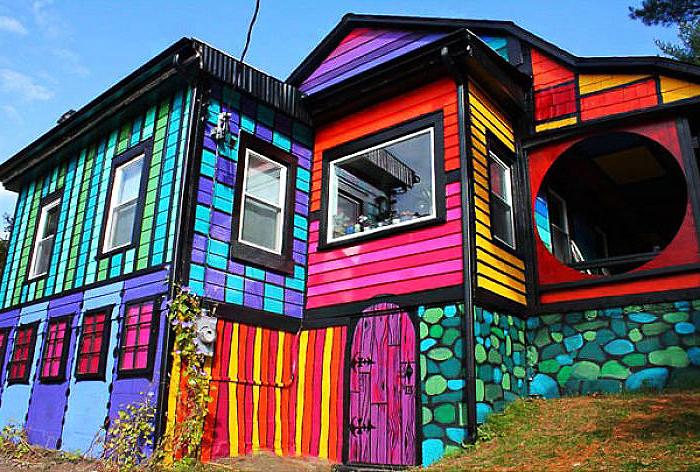 яркие здания