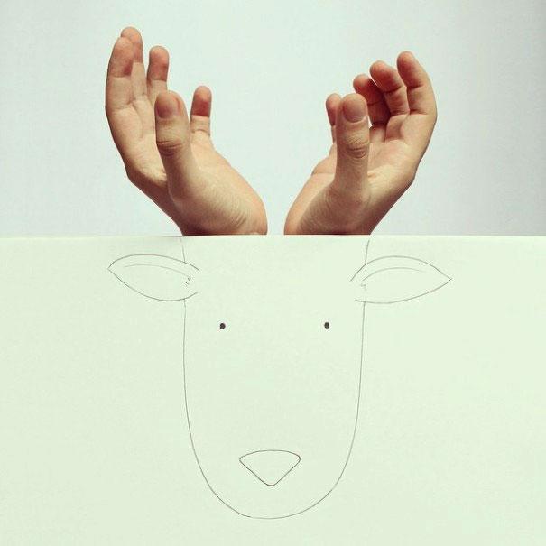 легкие рисунки животных