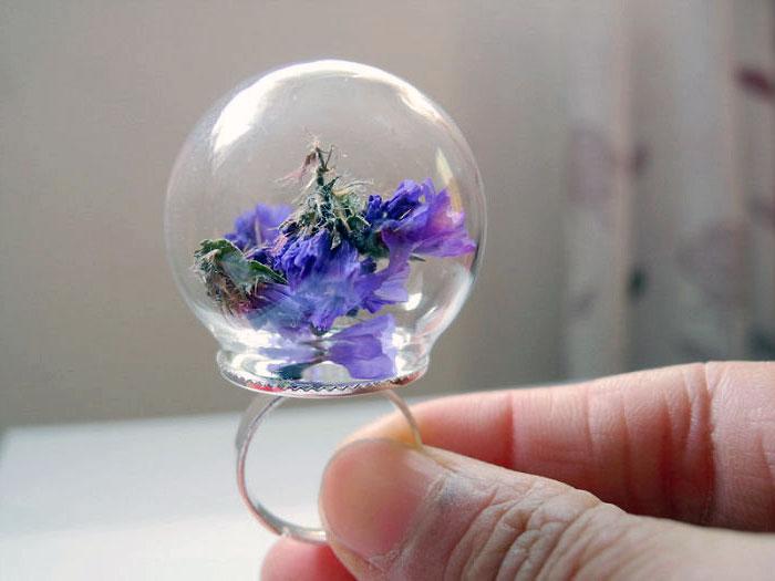 кольцо с цветами фото