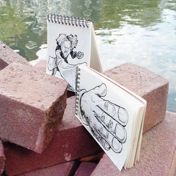 чёрная гелевая ручка рисунки