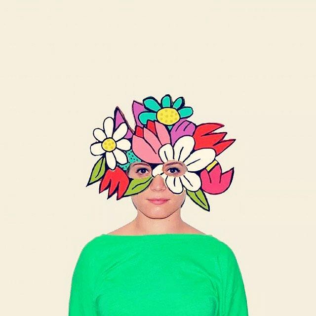 сделать маску картона из для девочек