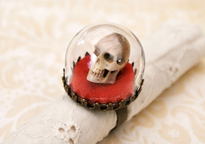 кольцо с черепом фото