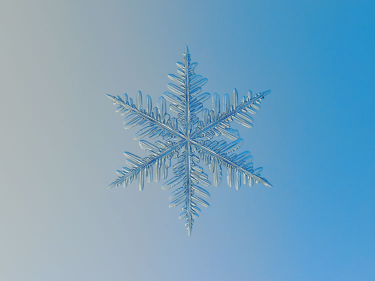 лёгкие и красивые снежинки