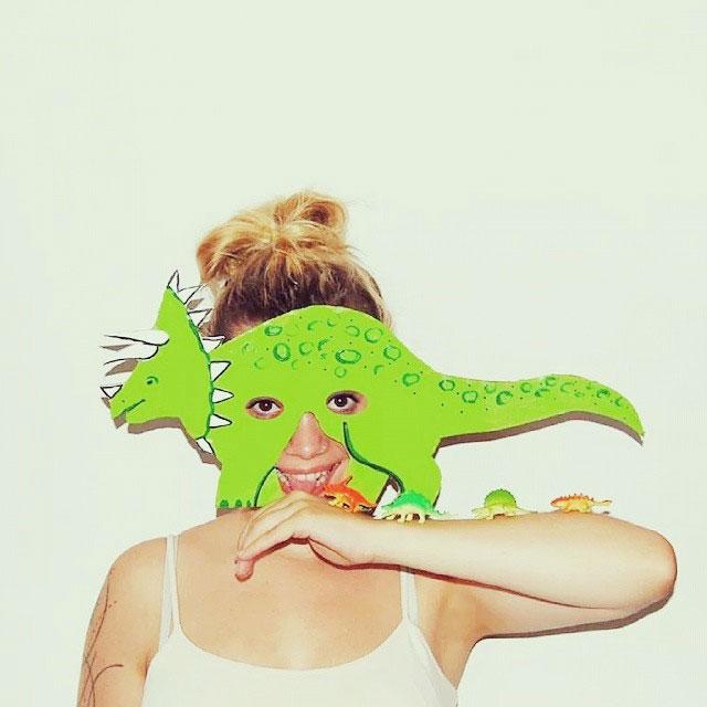 Как сделать маску динозавр 505