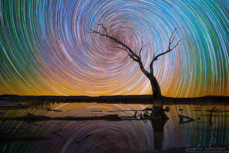 ночное небо со звёздами