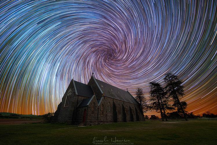ночное звёздное небо