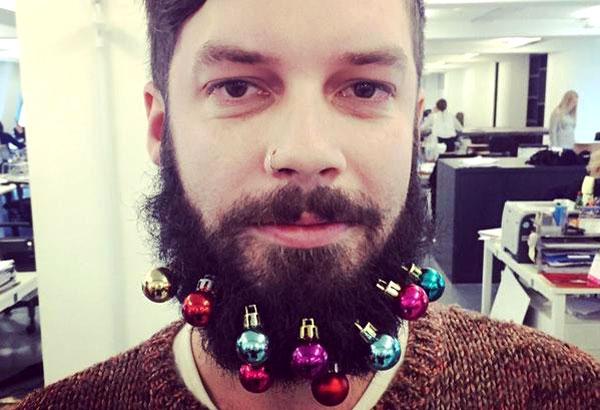 новогодняя борода