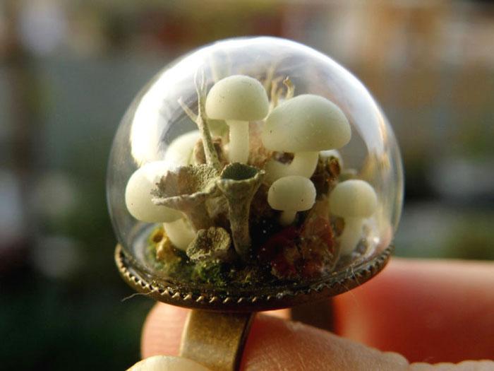 кольцо с миниатюрой внутри