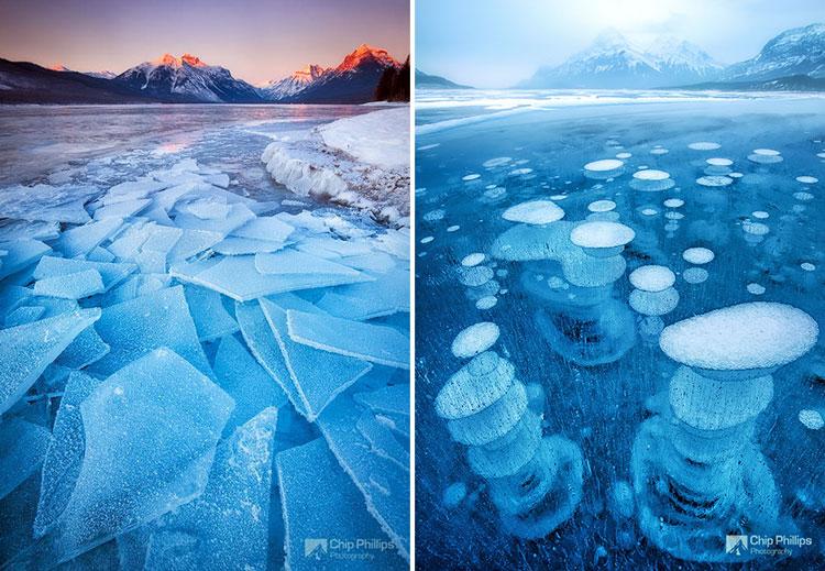 озеро под льдом