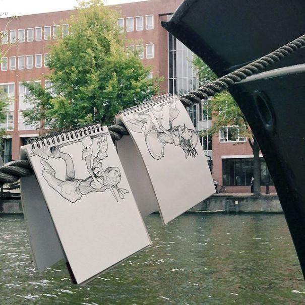 рисунки гелевой ручкой фото