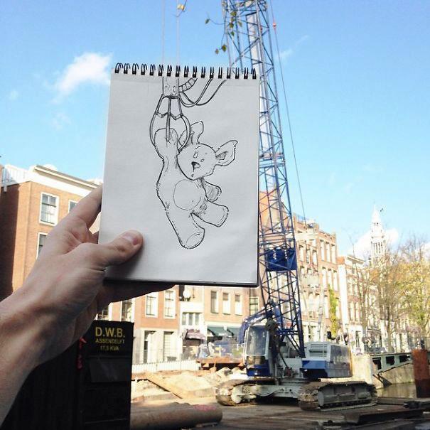 рисунки гелевой ручкой на бумаге