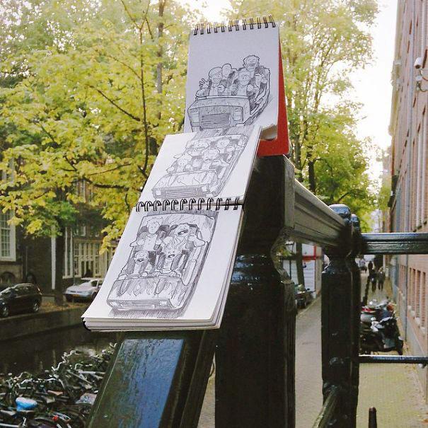 рисунки ручкой прикольные