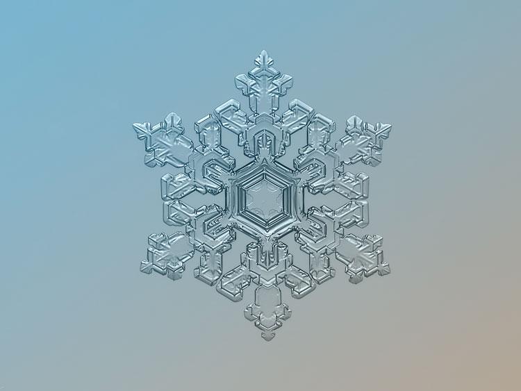 самые красивые снежинки