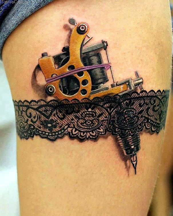 татуировки 3д для девушек