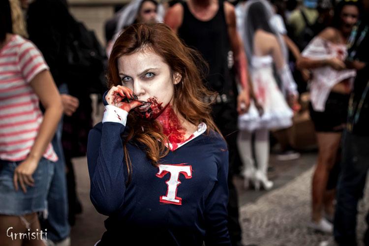 зомби апокалипсис девушка
