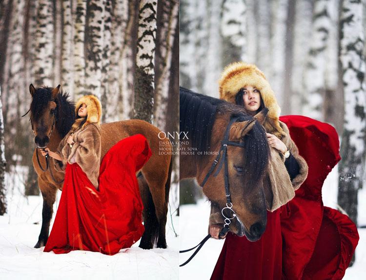 фотографии девушка зима