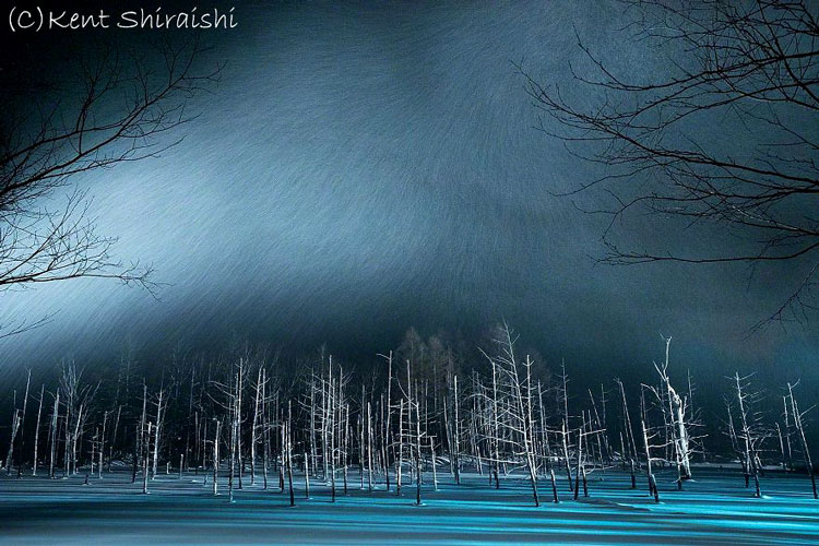 голубой пруд