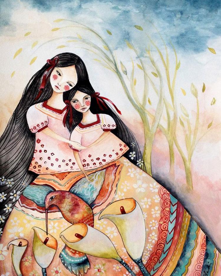 картинки мама и дочка