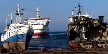 корабль паром