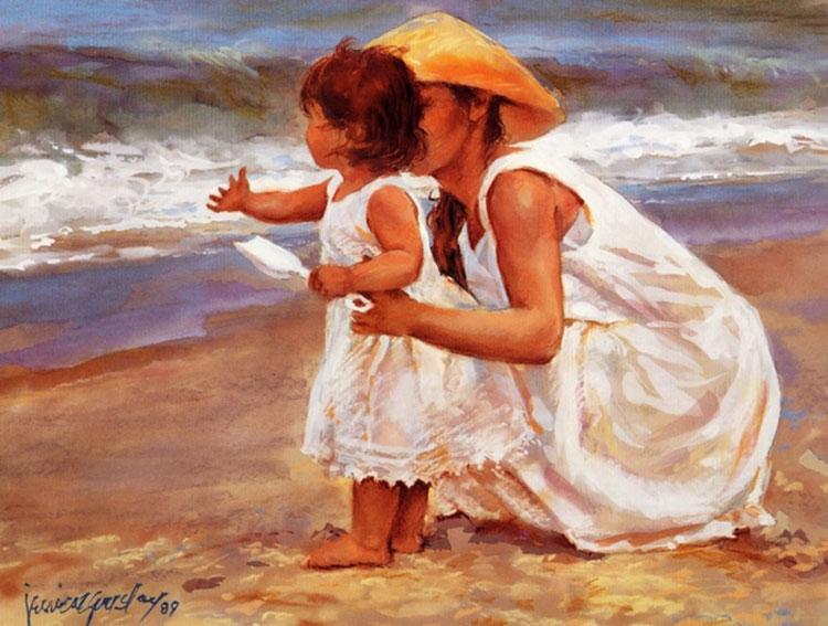 мама и дочь картина