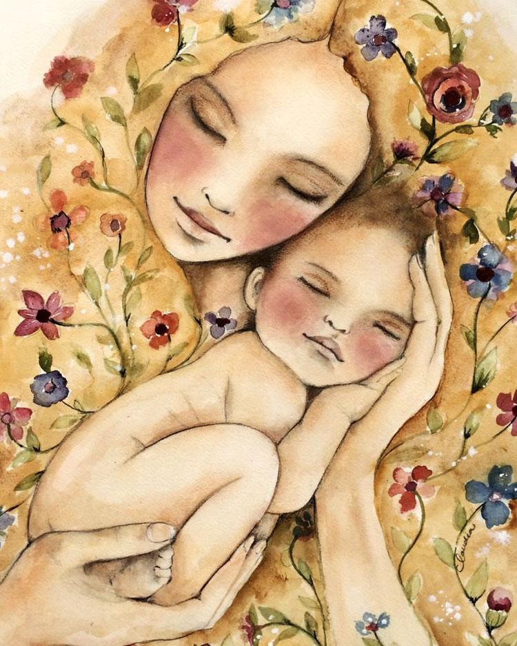 Картинки по запросу мама и ребенок рисунок