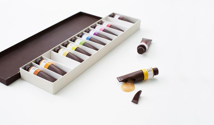 рисовать шоколадом