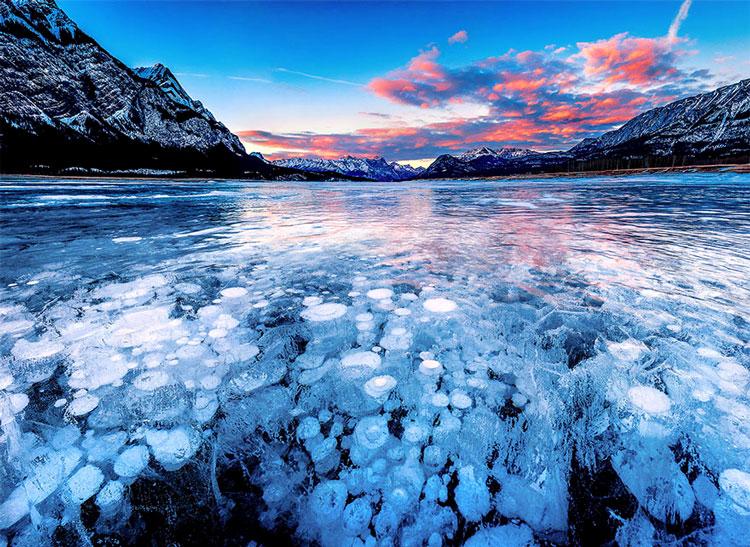 застывшее озеро