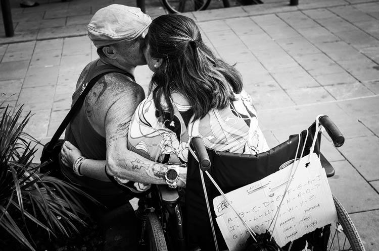 чёрно-белые фото влюблённых