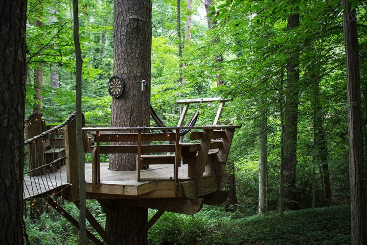 деревянные домики на дереве