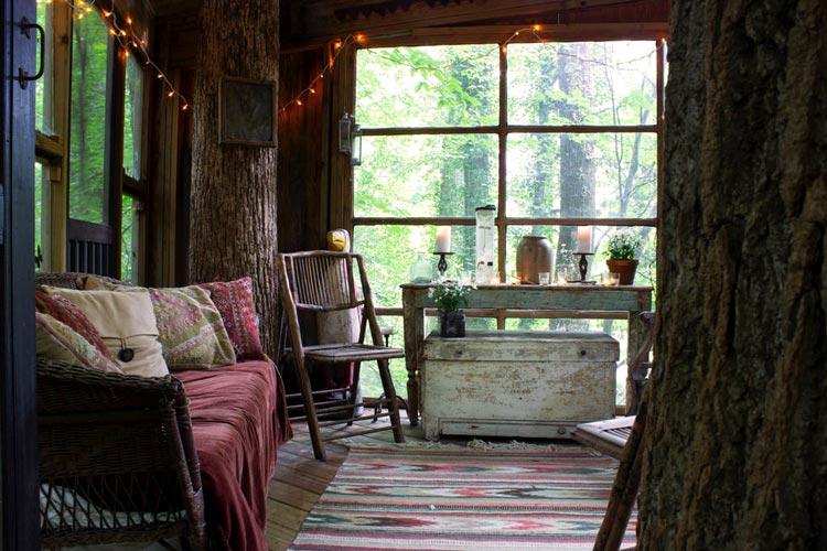 дома на деревьях картинки