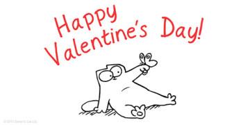кот Саймона день святого Валентина