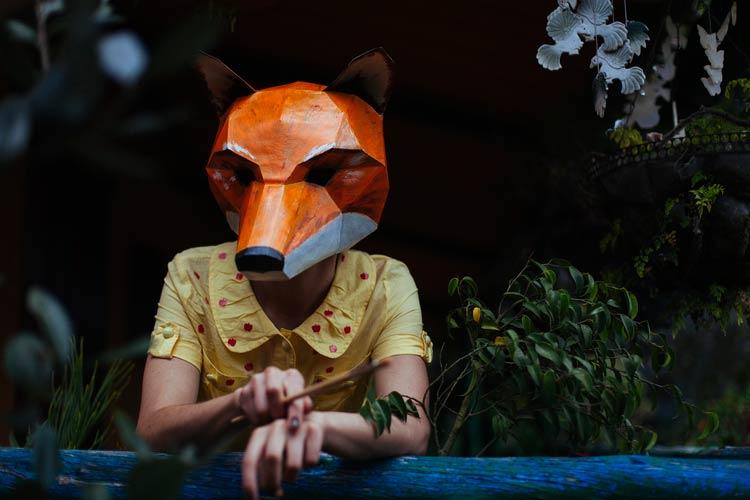маска из бумаги фото