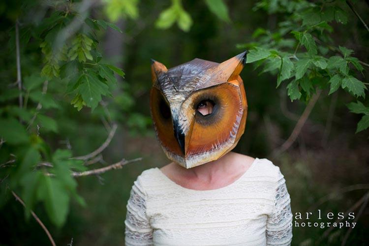 маска птицы из бумаги
