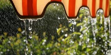 под дождём