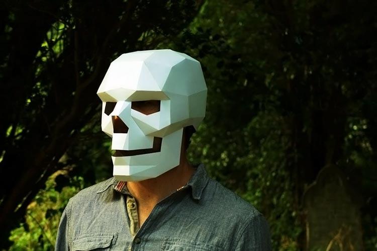 бумажные маски на голову