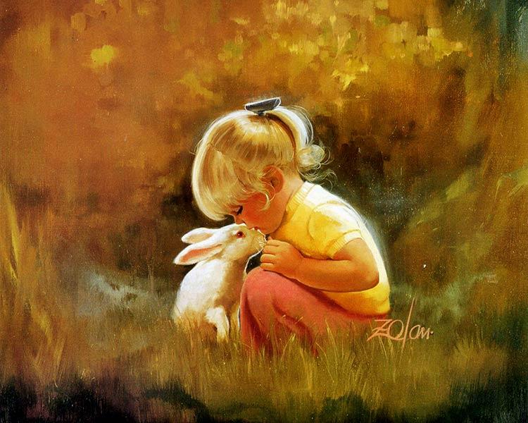 дети в живописи картины