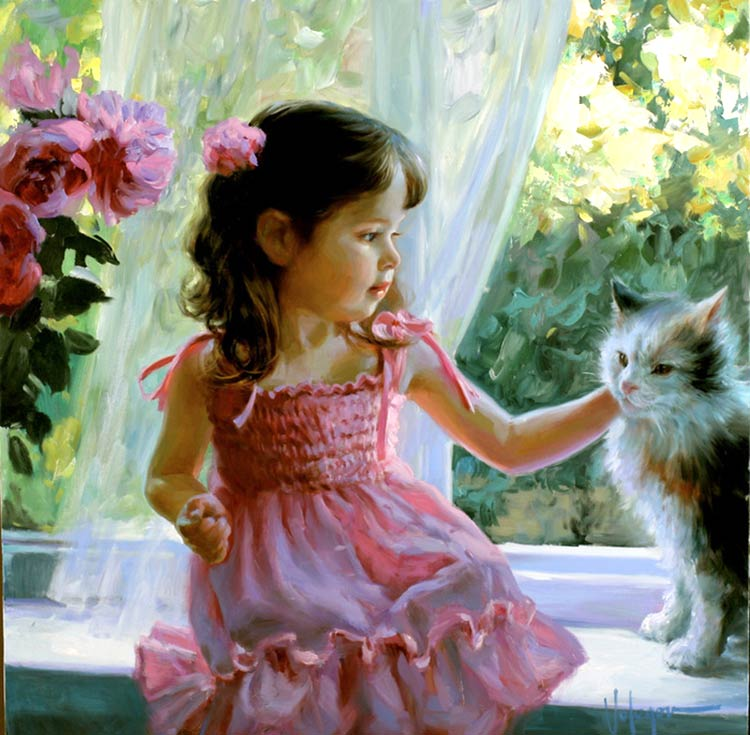 девочки на картинах